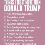 THINGS I TRUST MORE THAN DONALD TRUMP - BLACK