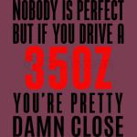 NOBODY IS PERFECT BUT IF YOU DRIVE A 350Z YOU'RE PRETTY DAMN CLOSE