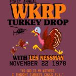 First annual WKRP Turkey Drop with Les-Nessman Shirt