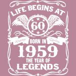 Born in 1959- 60th birthday gift