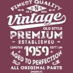 Vintage 1959 - 60th birthday gift