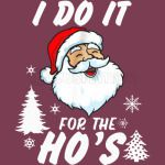 I Do It For The Ho's Funny Santa 1
