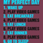 My Perfect Day Video Games