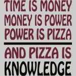 Pizza is Knowledge