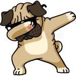 Dabbing Pug - Cute Funny Dog Dab