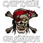 Grandpa, Pirate Grandfather Crossbones Skull Captain