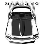 Mustang 69 - Dark Transparent/Multi Color