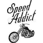 Speed Addict Custom Bike Chopper Motorcycle T-Shirt