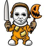 Chibi Michael Myers Happy Halloween