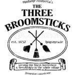 THE THREE BROOMSTICKS SIGN