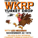 First annual WKRP Turkey Drop with Les-Nessman Funny TShirts
