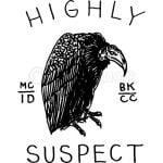 Highly Suspect Logo Cover black