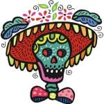 halloween traditional pattern skull