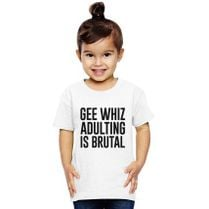 a06a2740837 Gee Whiz Adulting Is Brutal Apron - Customon.com