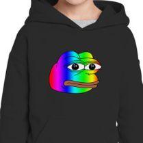 Pepe Meme Frog Rainbow Kids Hoodie Customoncom