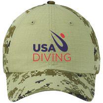 84017e74da6 USA Diving Logo Colorblock Camouflage Cotton Twill Cap