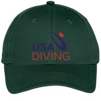 f1a47bd2912 USA Diving Logo Youth Six-Panel Twill Cap