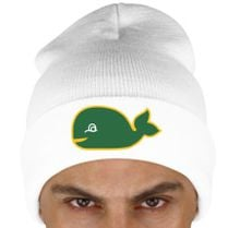 Hartford whalers fish Knit Cap (Embroidered)  9137b9f76c3d