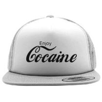 Enjoy Cocaine funny Coke Foam Trucker Hat  7c2456aaa59d