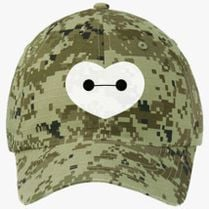 Big Hero 6 - Baymax Shaped Heart Ripstop Camouflage Cotton Twill Cap ( Embroidered) - Customon.com a8284bbcd05d