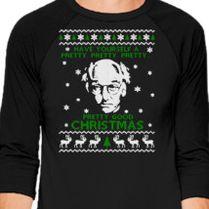 Larry David Pretty Good Christmas Ugly Sweater Baseball T Shirt