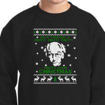 Larry David Pretty Good Christmas Ugly Sweater Kids Sweatshirt