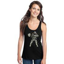 ce37b3cc3988f Astronaut Plays Baseball Outer Space Shirt Women s Racerback Tank Top