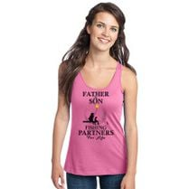 fd034290 Father And Son Fishing Partners For Life Women's Racerback Tank Top