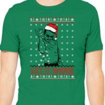 marijuana bae christmas ugly sweater mens t shirt