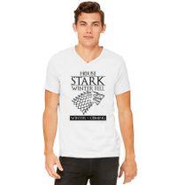 Game Of Thrones House Stark of Winterfell V-Neck T-shirt