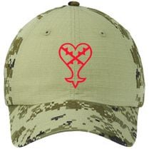 5ca32dfffd0 Heartless Logo (Red) - Kingdom Hearts Colorblock Camouflage Cotton Twill Cap