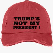 19015bf1831 Fuck Trump Distressed Cotton Twill Cap (Embroidered)