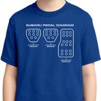Subaru Pedal Diagram Youth T Shirt Customon Com