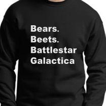 Bears Beets Battlestar Galactica Crewneck Sweatshirt Customoncom