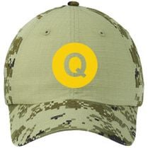 a2b14f53c3e Omega Psi Phi Q train logo Colorblock Camouflage Cotton Twill Cap ( Embroidered) - Customon.com