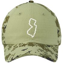 522a58526a6 New Jersey Map Cotton Twill Hat (Embroidered) - Customon