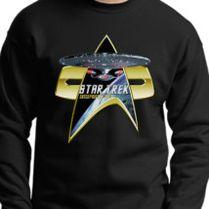 StarTrek Enterprise 1701 D Com badge 3 Crewneck Sweatshirt 54e2adf37fe