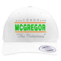 5b5bbc3dee9 CONOR MCGREGOR IRISH Retro Trucker Hat (Embroidered)