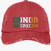 035114dcd3e CONOR MCGREGOR IRISH Distressed Cotton Twill Cap (Embroidered) -  Customon.com