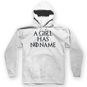 A Girl Has No Name Unisex Hoodie White / S