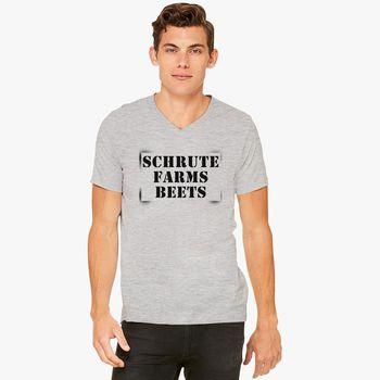 9bd844f3d5c Schrute Farms Beets V-Neck T-shirt - Customon.com