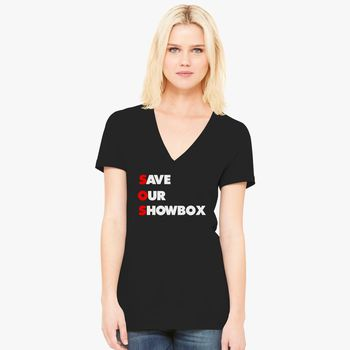 fa4436186f2 SAVE OUR SHOWBOX Women s V-Neck T-shirt - Customon.com
