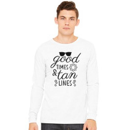 7392be55 Good Times and Tan Lines Women's V-Neck T-shirt - Customon.com