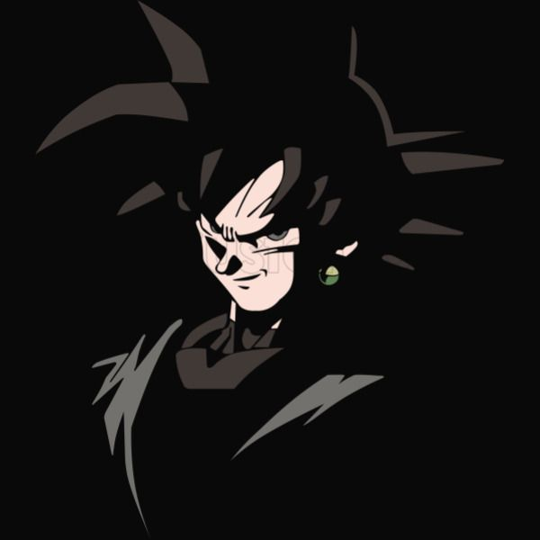 Black Goku Youth T Shirt Customon