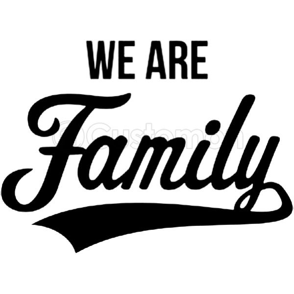 We Are Family Black Youth T Shirt Customon