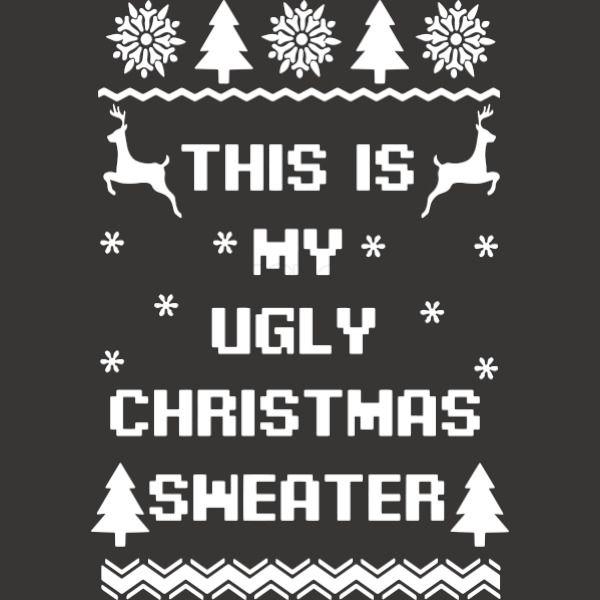 b4f07a620ee9 This is my ugly christmas sweater Baseball T-shirt - Customon