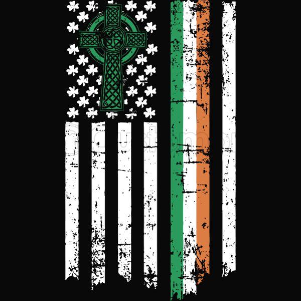 299a77ee0f9aa Irish American Flag Ireland Heritage Pride Shamrock Women s T-shirt ...