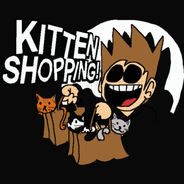 EDDSWORLD KITTEN SHOPPING Kids Hoodie - Customon