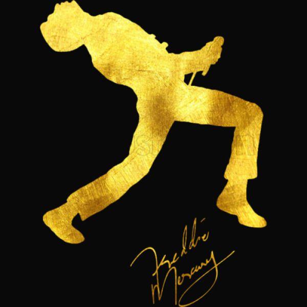 31a621993319d Freddie Mercury Silhouette Gold Edition Women s Racerback Tank Top ...