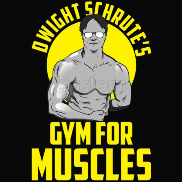 7becf7c5 Dwight Schrute gym muscles Youth T-shirt - Customon